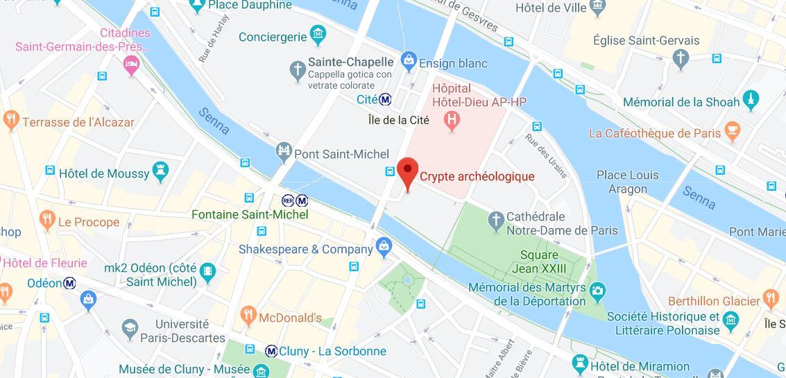 archaeological crypt paris