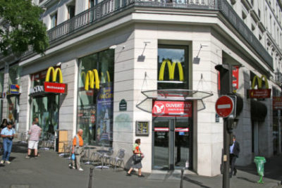 Fast food chains in Paris
