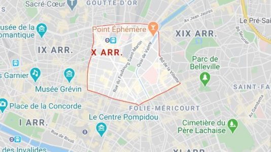 arrondissement 10 maps