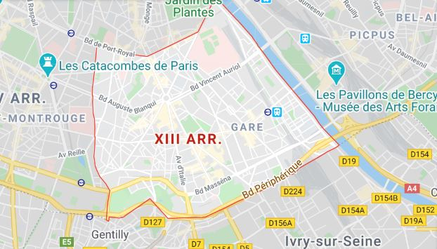 arrondissement 13 maps