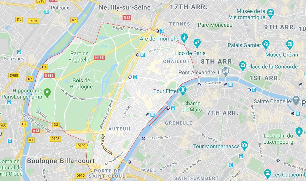 arrondissement 16 maps