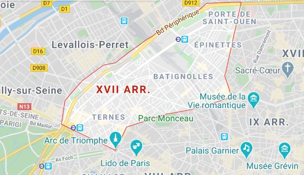 arrondissement 17 maps
