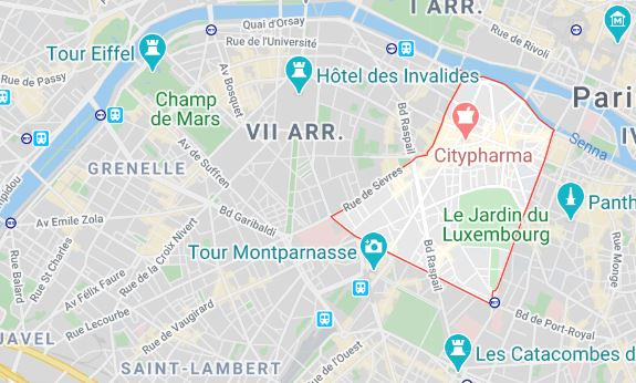 arrondissement 6 maps