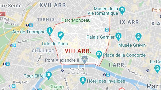 arrondissement 8 maps
