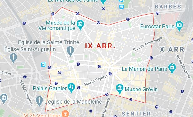 arrondissement 9 maps
