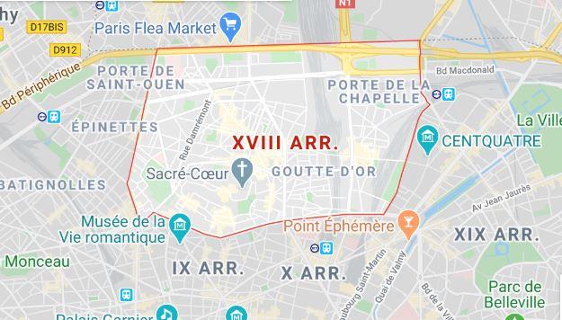 arrondissement 18 maps