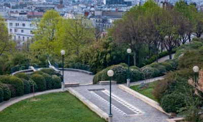 Arrondissement 20, quiet in Paris