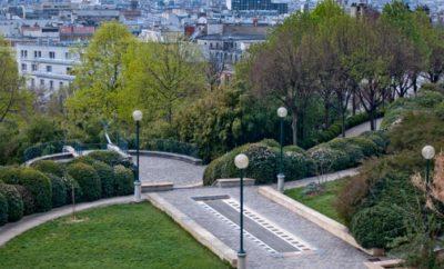 Arrondissement 20, quiet in Paris