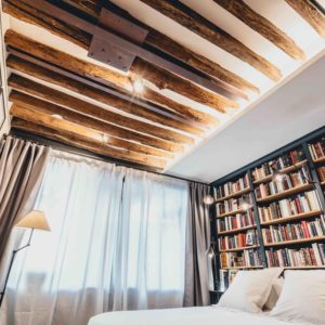 Bookstore Apartment in Le Marais, the unique accommodation experience