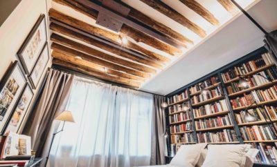 Bookstore Apartment in Le Marais for short term rentals