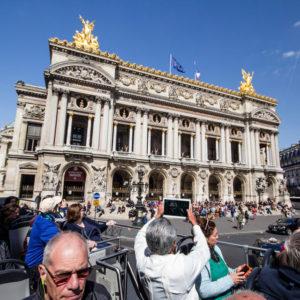 Open Tour Bus, visiting Paris being independent