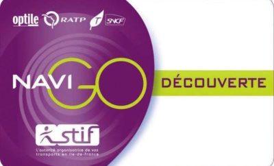Paris Navigo Découverte, weekly or montlhy pass