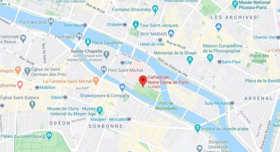 notre dame cathedral maps