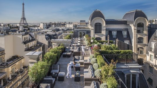 paris from the rooftop