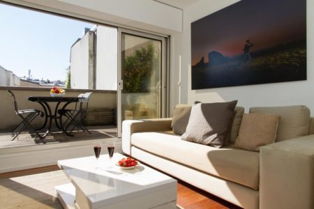 rooftop apartment in le marais