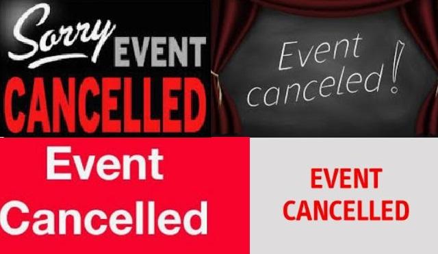 event cancelled due to coronavirus in paris