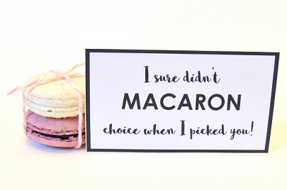 Puns about crepes and macarons
